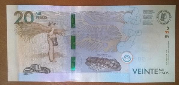 Колумбия 20000 песо 2015 год
