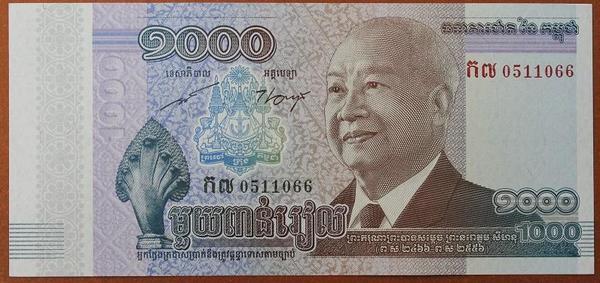 Камбоджа 1000 риель 2012 год