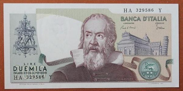 Италия 2000 лир 1983 год
