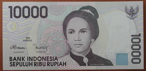 Индонезия 10000 рупий 1998(1999)год