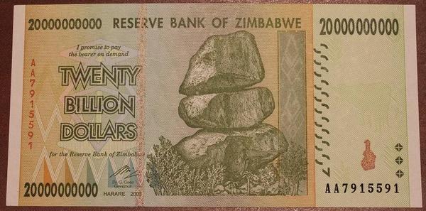 Зимбабве 20 миллиардов долларов 2008 год