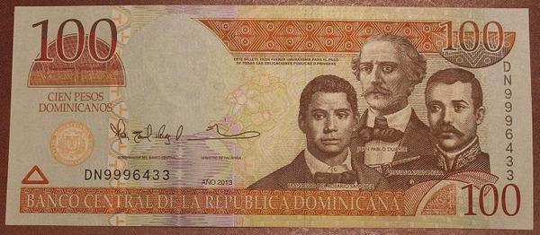 Доминикана 100 песо 2013 год