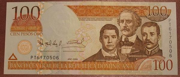 Доминикана 100 песо 2006 год