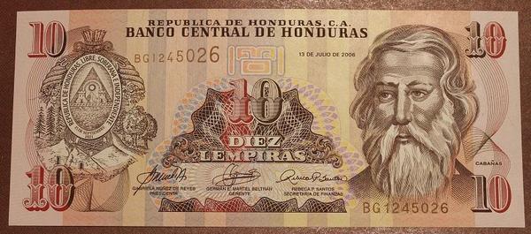 Гондурас 10 лемпира 2010 год