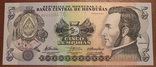 Гондурас 5 лемпира 2010 год