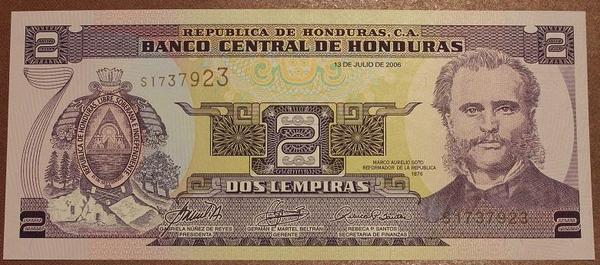 Гондурас 2 лемпира 2006 год