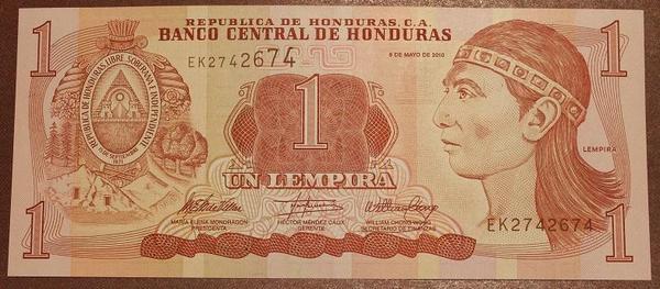 Гондурас 1 лемпира 2010 год