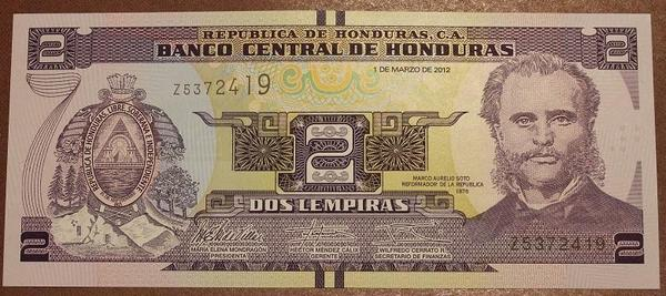 Гондурас 2 лемпира 2012 год
