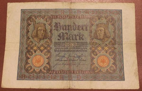 Германия 100 марок 1920 год