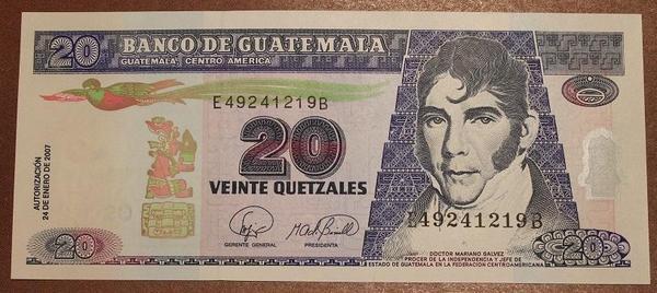 Гватемала 20 кетцаль 2007 год
