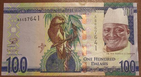 Гамбия 100 даласи 2015 год