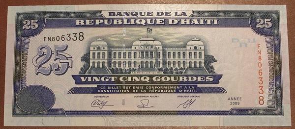 Гаити 25 гурд 2009 год