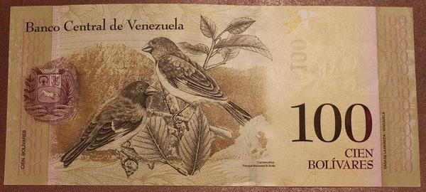 Венесуэла 100 боливар 2007 год