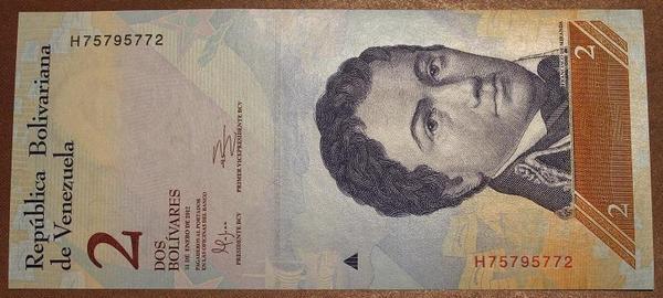 Венесуэла 2 боливара 2012 год