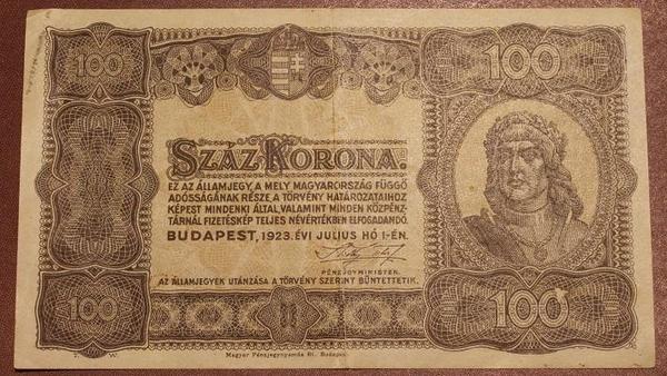 Венгрия 100 крон 1923 год