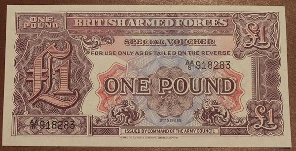 Великобритания ваучер(Вооруженные силы) 1 фунт 2 серия