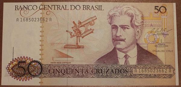 Бразилия 50 крузадо 1986-1988 год