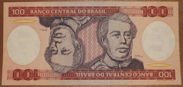 Бразилия 100 крузейро 1981-1984 год