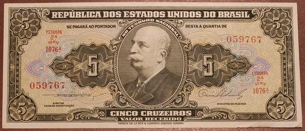 Бразилия 5 крузейро 1962-1964 год UNC