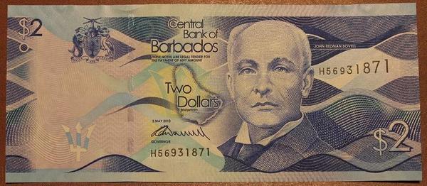 Барбадос 2 доллара 2013 год