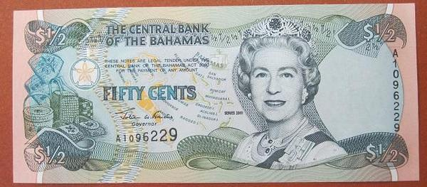 Багамские острова 1/2 доллара 2001 год