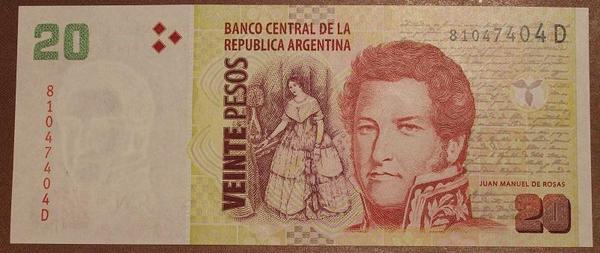 Аргентина 20 песо 2003 год