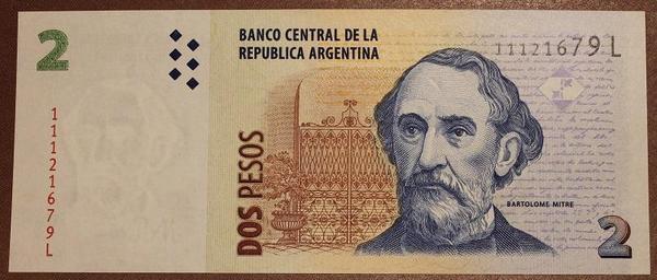 Аргентина 2 песо 2002-2003 год