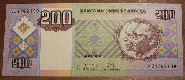 Ангола 200 кванза 2011 год