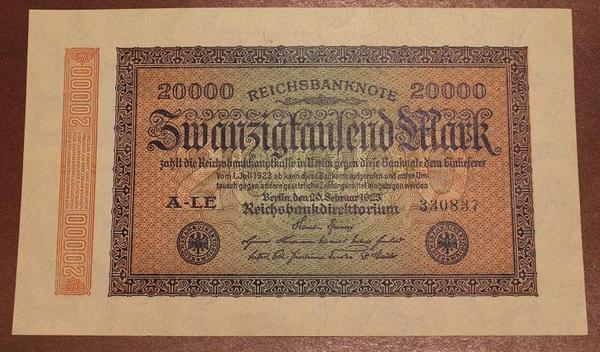 Германия 20000 марок 1923 год