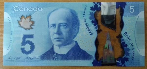 Канада 5 долларов 2013 год