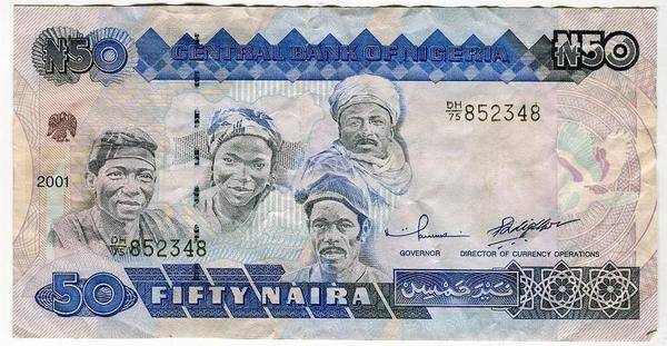Нигерия 50 найра 2001 год