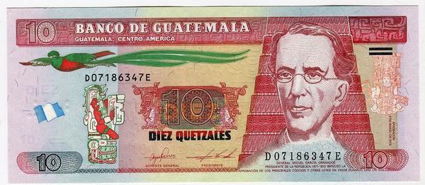 Гватемала 10 кетцаль 2016 год