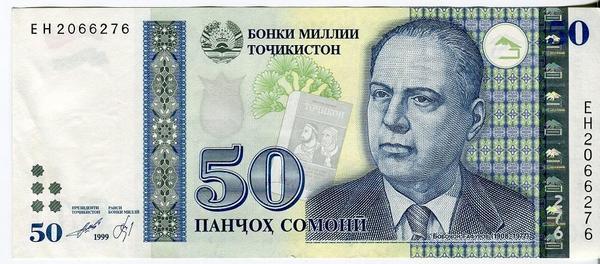 Таджикистан 50 сомони 1999(2013) год