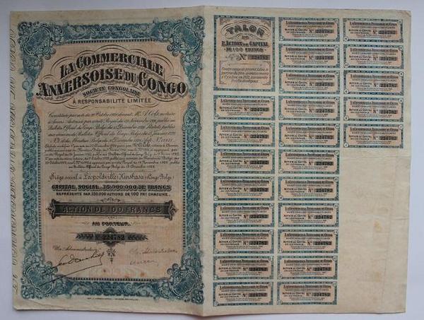 Конго Акция 100 франков