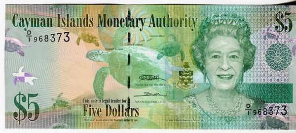 Каймановы острова 5 долларов 2010 год