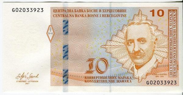 Босния и Герцеговина 10 марок 2017 год