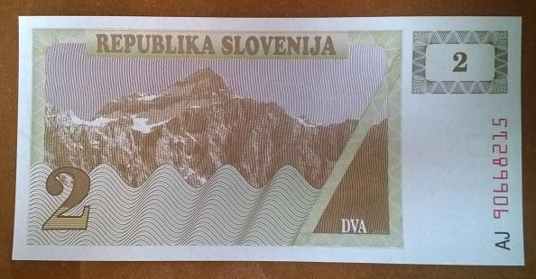 Словения 2 толара 1990 год