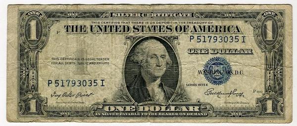 США 1 доллар 1935 год E